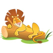 stickers muraux enfant Lion endormi
